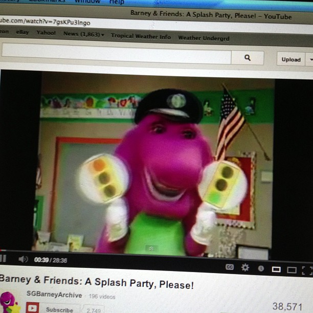 Barney the scary dinosaur says its Friday freestyle time.. So lets do this!
