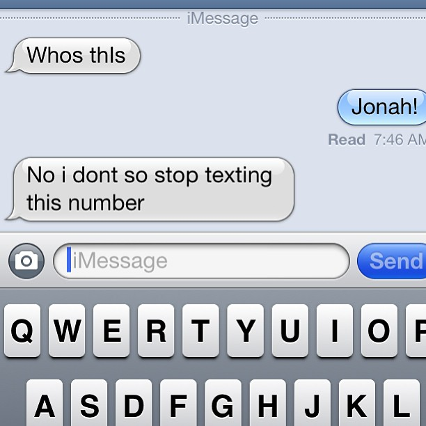 That awkward moment when you realize your brother-in-law has changed his cell phone number…