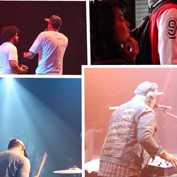 @pedrolatorre (drums) @djmorph (dj) @tmdanger (mngr) @brownstudymusic (hypeman)