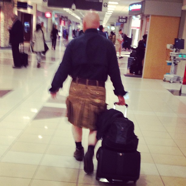 Takes a strong man to wear a kilt in public.. & this guy would easily kick my butt. As a fellow scott' I give props..