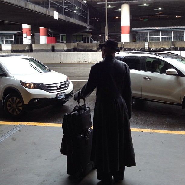If I didn't know any better Morpheus is standing outside my airport..
