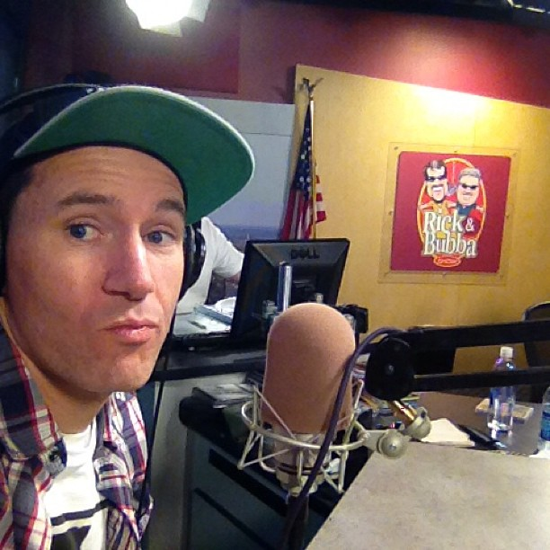 I'm live on the Rick & bubba show! Www.rickandbubba.com (at Rick and Bubba Broadcast Plaza and Teleport)