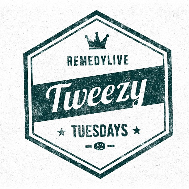 "45 minutes till we live chat w/ ""Tweezy Tuesdays"" @ www.remedylive.com"