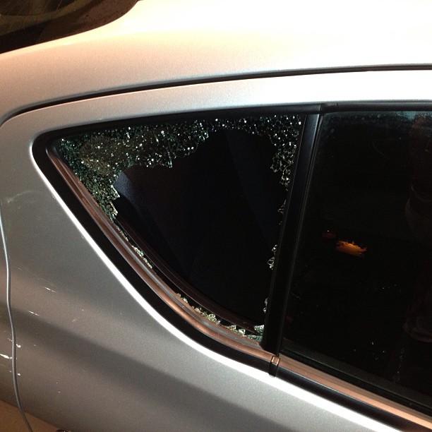Dear thieves that broke into my rental car.. I hope the 20 hot pink kj52 hats u stole bring u much joy & happiness..