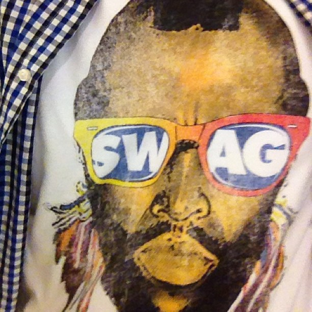 """A guy just shouted at me """"nice shirt.."""" Dang mr. T you still got it playa! (at Galleria Tower 1)"""