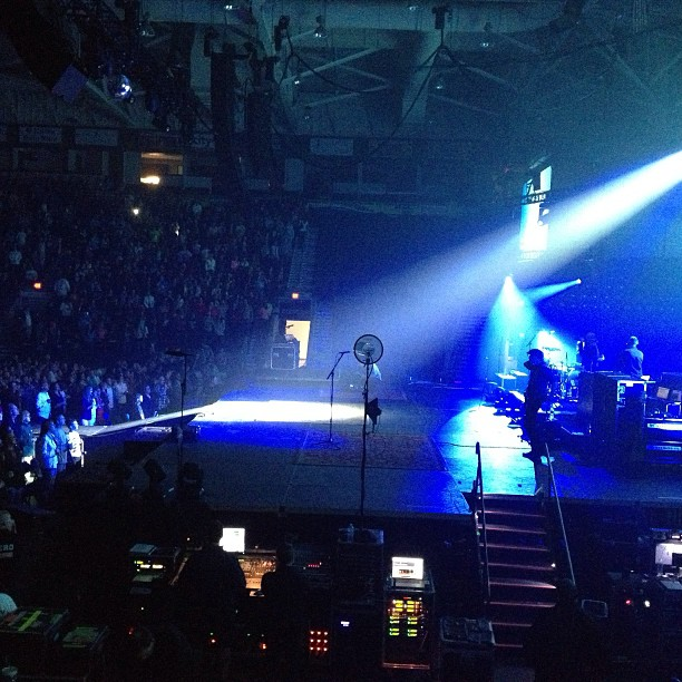 The homie @djpromote opening up the Chris tomlin concert.. We come a long way Christian hip hop. :) (at Germain Arena)