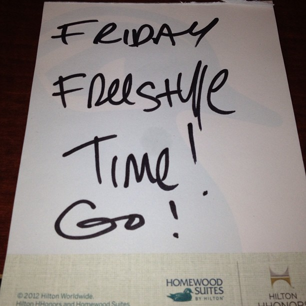 A picture says a 1000 words! Friday freestyle does also… Hit me!