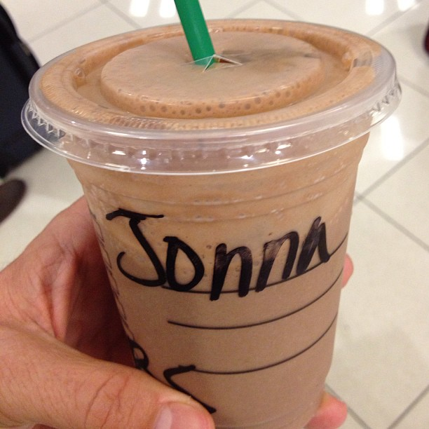 "This is why I never give my name @ starbucks.. ""Joanna? Joan? Jonas brothers? I have ur smoothie…"" (at Starbucks)"