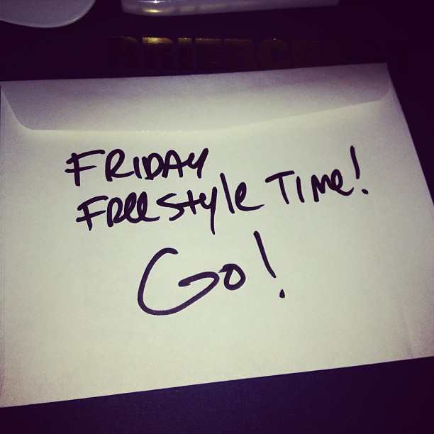 This can only mean 1 thing! Friday freestyle time…1st topic taken off each social network.