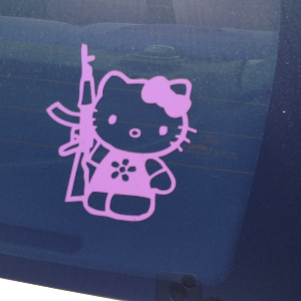 "Hello kitty scarface version.. ""Ok meow… I'm reloaded.."""