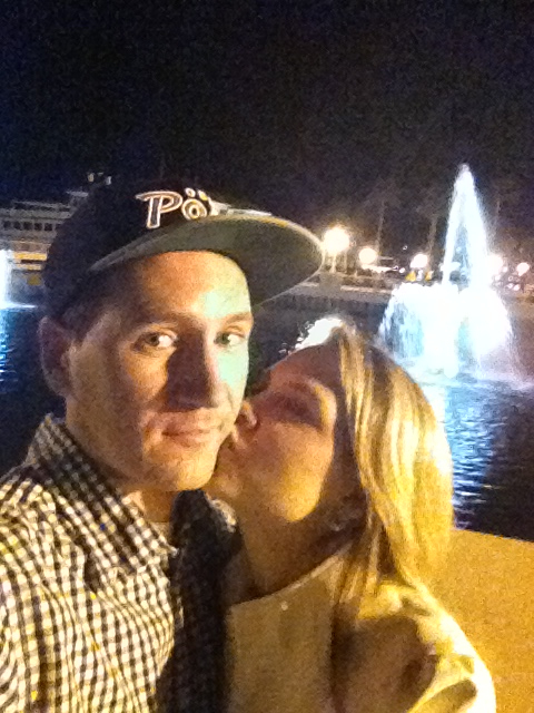 Man this girl is always running up on me trying to kiss me.. (Ha.. Date night)