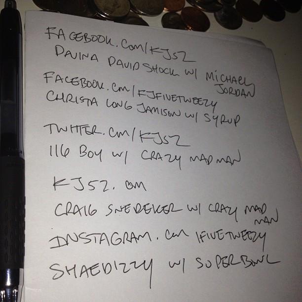 Got my topics: Michael Jordan/syrup/crazy mad man/Super Bowl