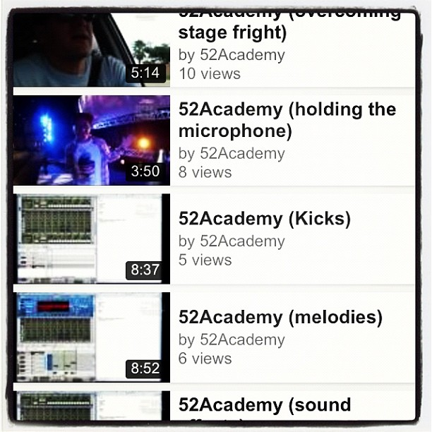 Check out www.youtube.com/52academy 4 tons of music tips/wisdom & insight that I've learned over the yrs.