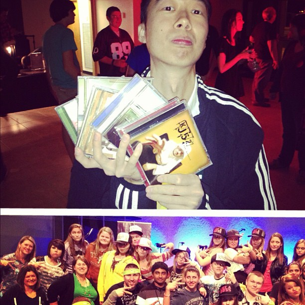 Shout outs to the STL rally last night.. & dj mo who had me sign every cd I ever put out!