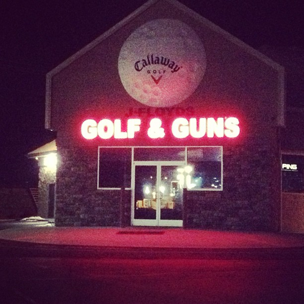 Golf & Guns? Of course! Why wouldn't you combine rifles + 9irons!