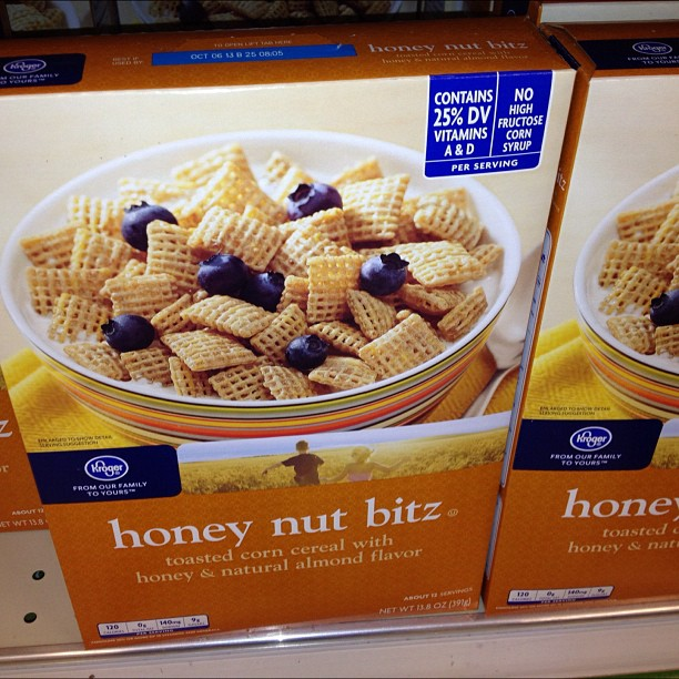 Nothing about this cereal makes sense.. No honey no nuts.. & why they spell bits w/ a z?