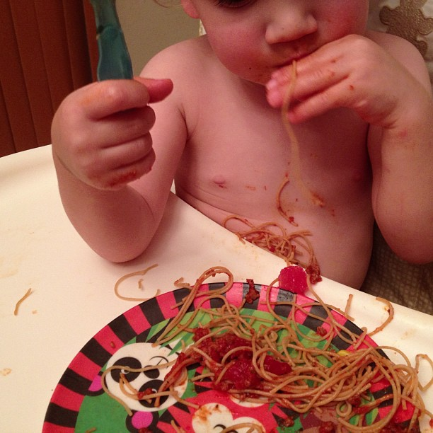 Sure the kid is 1/8 Sicilian but maybe pasta would've been a better choice @ a later date..