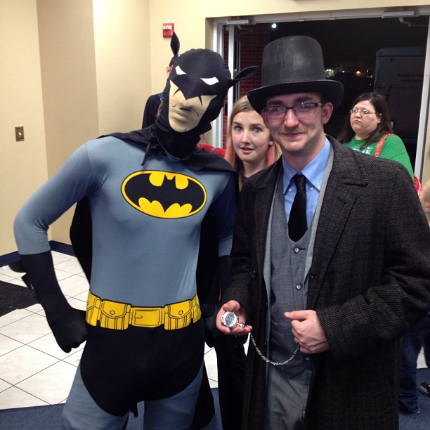 It's pretty awesomesauxe when batman & dr. Watson show up for your show..
