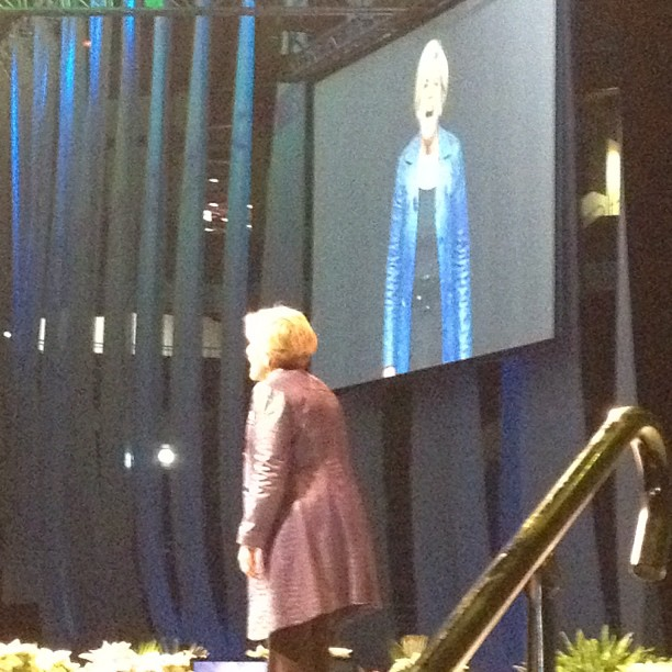 Today I made Suzie Orman dance .. My mission is accomplished for the day. (at Alamodome)