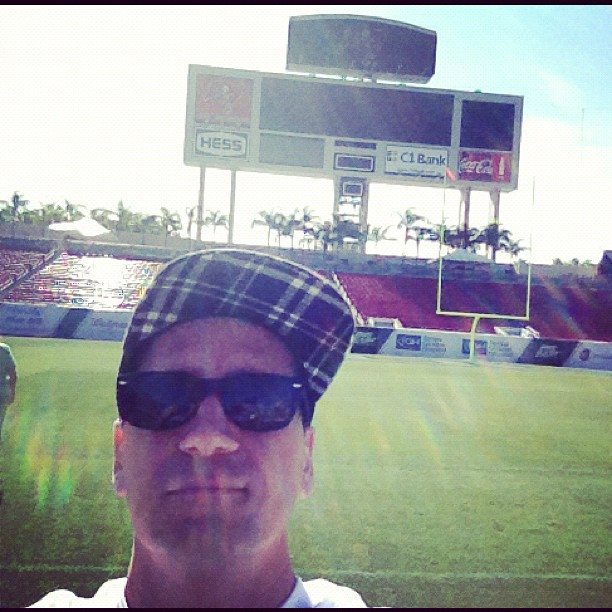December 23 you can be right here at the Bucs stadium with me And the newsboys! (at Raymond James Stadium)