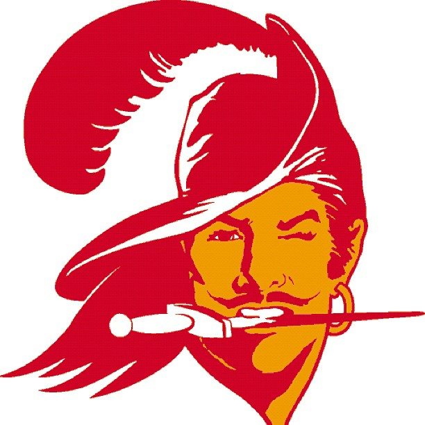 Today I get 2 go to the bucs stadium! I been down since they had this logo.. Those were dark days back then.