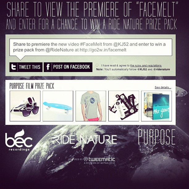 Want to win a skateboard? Go to http://www.becrecordings.com/facemelt and tweet the link! Boom!