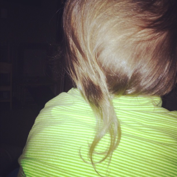 Instead of no-shave November in our household we're doing rat tail 2 year old..
