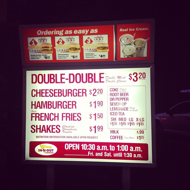 This place is the culinary equivalent of a hug from a baby angel.. (at In-N-Out Burger)