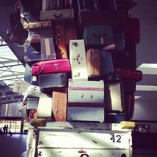 I wonder if my bag is somewhere in there… (at Sacramento International Airport (SMF))