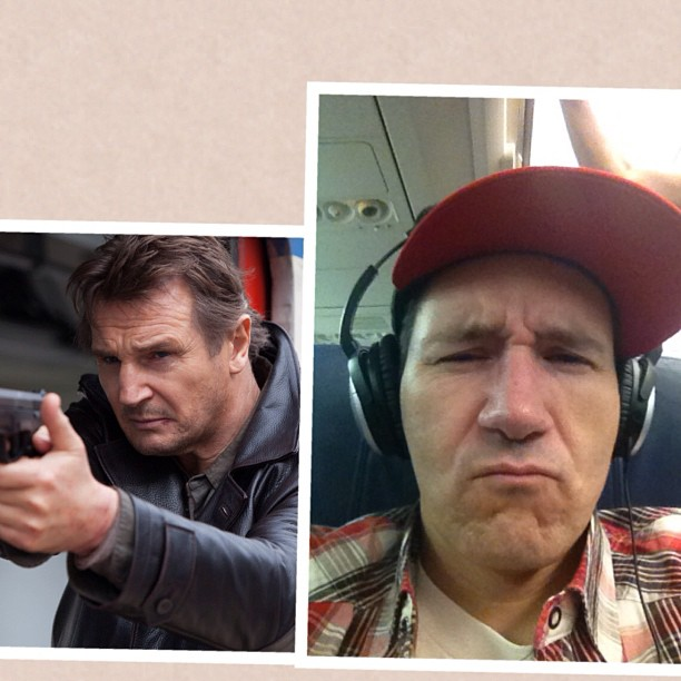 According to twitter: I look like Liam Neeson in taken 2 ..however I'd rather it be Qui-gon-jinn in Star Wars cuz I'd rather have a light saber.