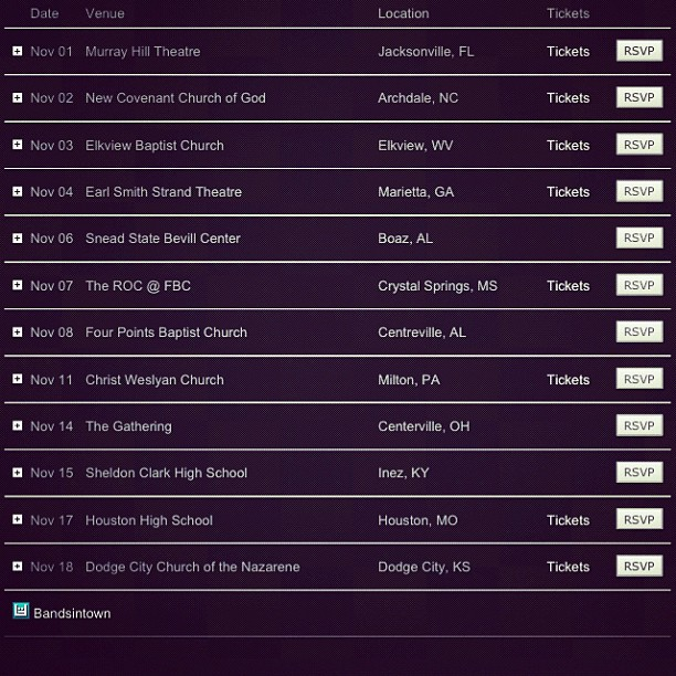 www.keepitloudtour.com ft. @fireflightrocks spoken @georgemoss @kj52 coming to ya spot.. Check the nov. dates