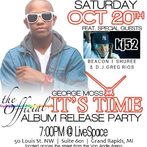 This Saturday ill be in Grand Rapids for @georgemoss release party.. Come say what up!