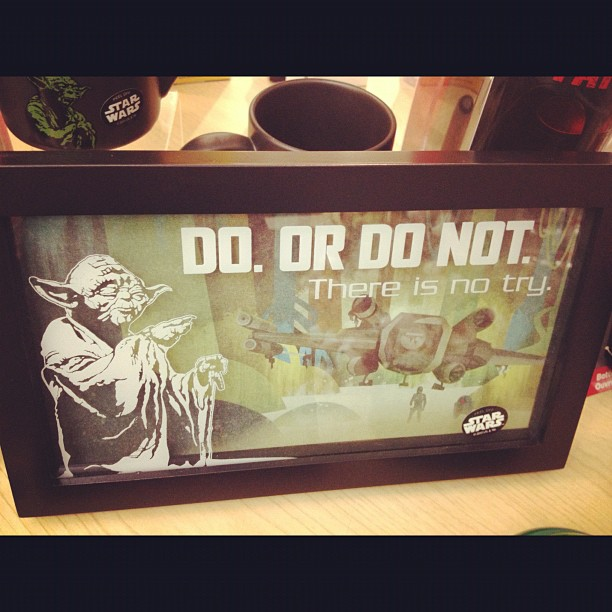 This word of wisdom from yoda is for all you rappers that think you can't do it… (at Hallmark)