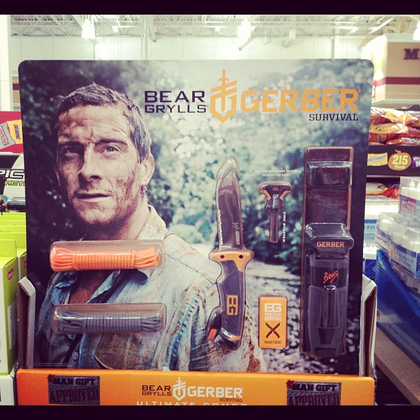 Bear Grylls got his own knife set! I wonder if it comes with official bear Grylls mud.. (Taken with Instagram at Bj's Wholesale)
