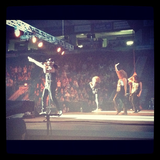 Incredibly disappointed @group1crew didn't ask me to be a backup dancer for this show.. (Taken with Instagram at Germain Arena Green Rink)