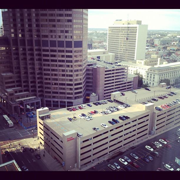 Beautiful view of downtown Denver from my hotel room.. Ahhh Denver the sunshine state. (Taken with Instagram at Grand Hyatt Denver)
