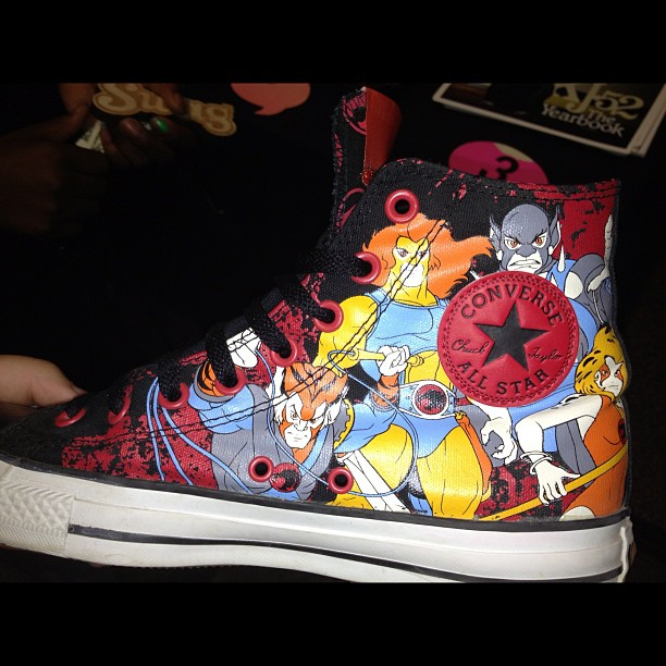 These thundercat chucks are the bizzzzzz-niss. (Taken with Instagram)