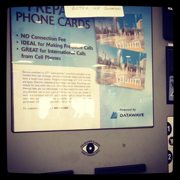2 all my conspiracy theorists I think I found a pre-paid phone card system owned by the illuminati!!!! (Taken with Instagram at Gate B23)