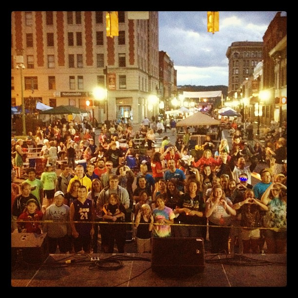 About to go on @ Jesus fest! (Taken with Instagram at Harrison County Courthouse)
