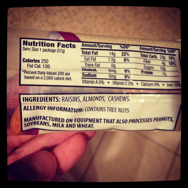 Why post nuts allergy info warning on a bag of nuts? I think your nuts if you need to check a bag of nuts to know if the nuts were processed on a machine that processes nuts.. (Taken with Instagram)