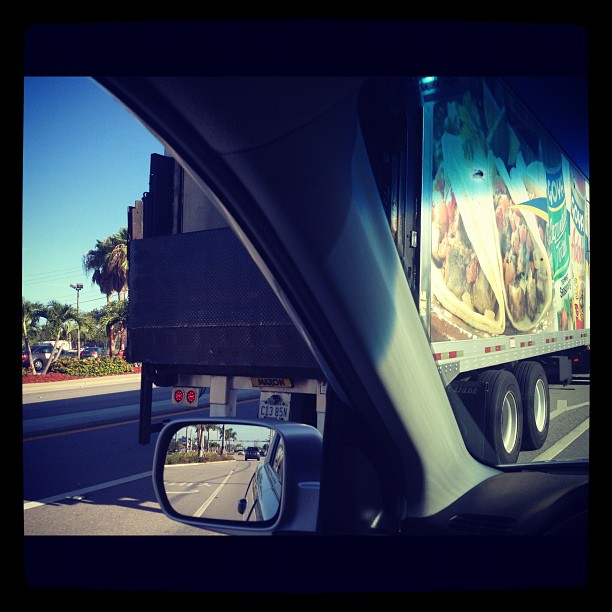 How do you know you live in South Florida? When you pull up next to a 25 foot long Goya/adobo truck (Taken with Instagram at Cape Coral Fire Station #4)