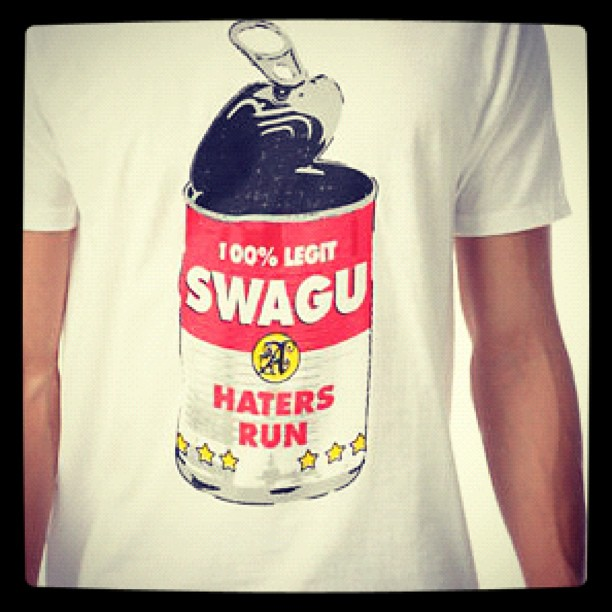 Some days I just like to open up a can of swag-u sauce and bask in its greatness.. (Taken with Instagram at Starbucks)