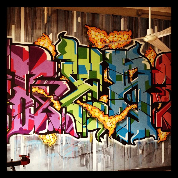 Sick graff piece in the spot I'm about to shoot @.. (Taken with Instagram)