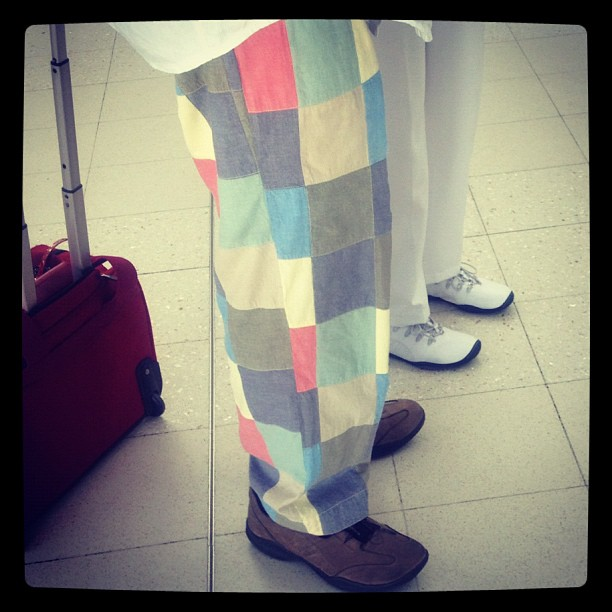 When I get older I'm gonna wear these pants everyday on the golf course and embarrass my children.. (Taken with Instagram at Gate C4)