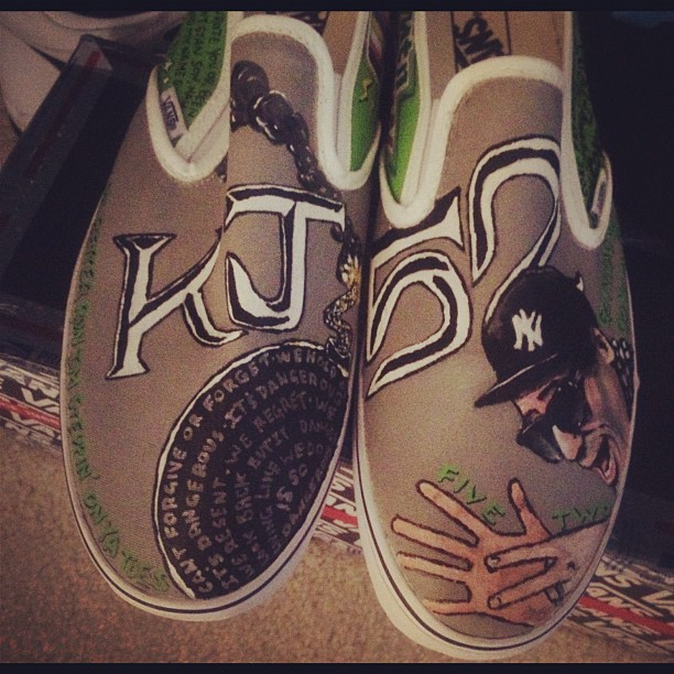Just some sneaks with my face on em.. No big whoop. Thx 2 ink12 studios! (Taken with Instagram)