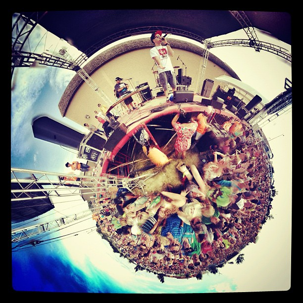 My world from stage in 360 degrees @ sonshine festival (photo @philliprood) (Taken with Instagram at Willmar Civic Center)