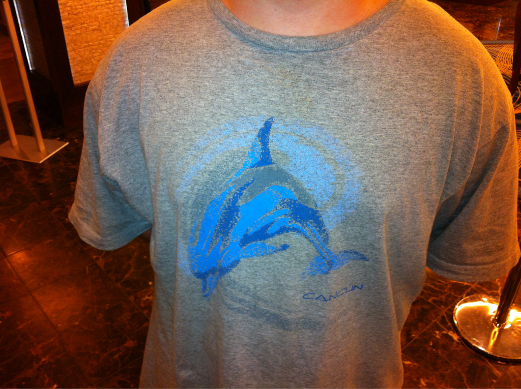 Landed in buffalo ny.. Wasn't greeted w/ chicken wings or Marv levy just a dolphin tshirt from @officialblaize (almost as good)