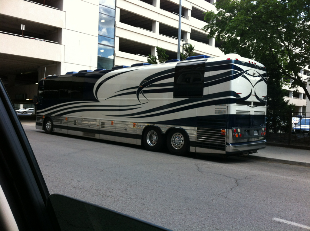 So ummm today someone asked for my autograph cuz they thought I had just came out of marylin mansons tour bus (pictured). Awwwwkkkkward.