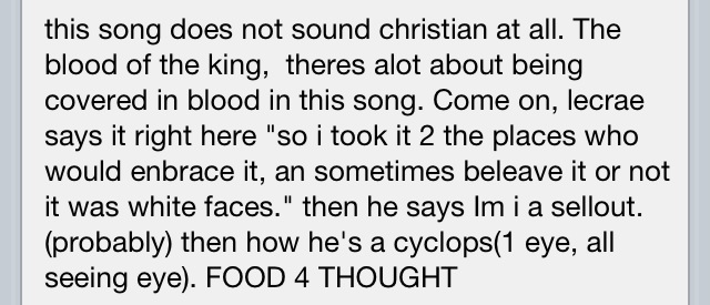 """According to YouTube comments @lecrae is an illuminati mason cause he mentioned """"cyclops"""" I always wondered about that guy.."""