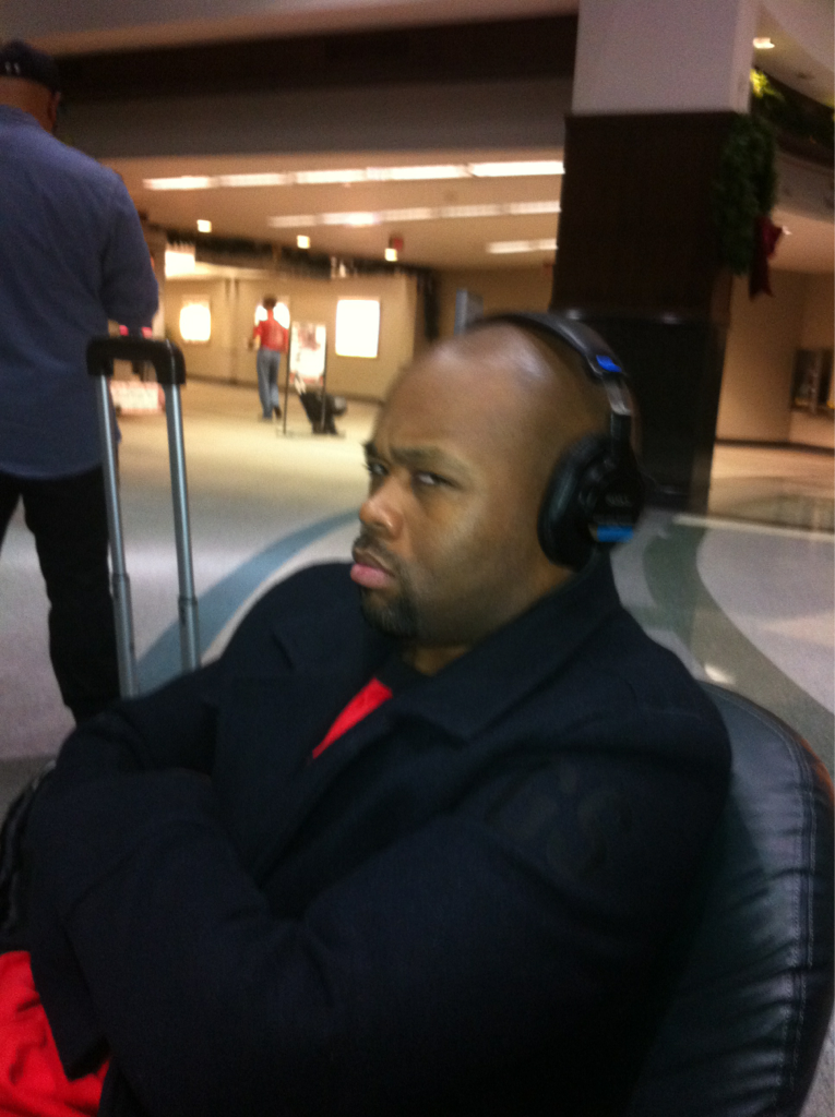 This is the face of an angry @marvinwinansjr enjoying demos of my new lp.. (he's on one btw)